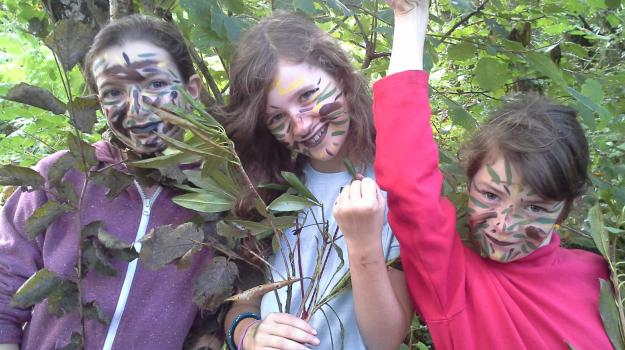 Children with face paint on